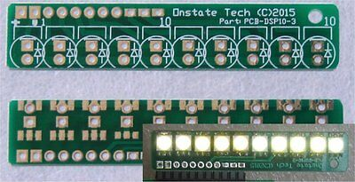 10 LED bargraph display PCB, DIY VU audio voltage current indictor meter board