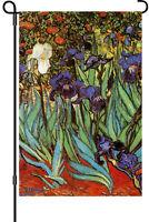 Vincent Van Gogh Irises Garden Flag Small 18 X 12