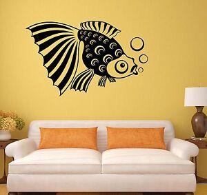 fish aquarium kids room bathroom art decor wall decal. Black Bedroom Furniture Sets. Home Design Ideas