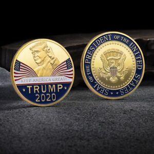 10Pcs Donald Trump 2020 Keep America Great USA Commemorative Challenge Coins aa