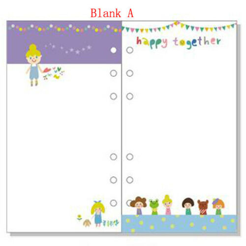 A5//A6 Cartoon Colourful To Do Planner Diary Insert Loose Leaf Refill Schedule