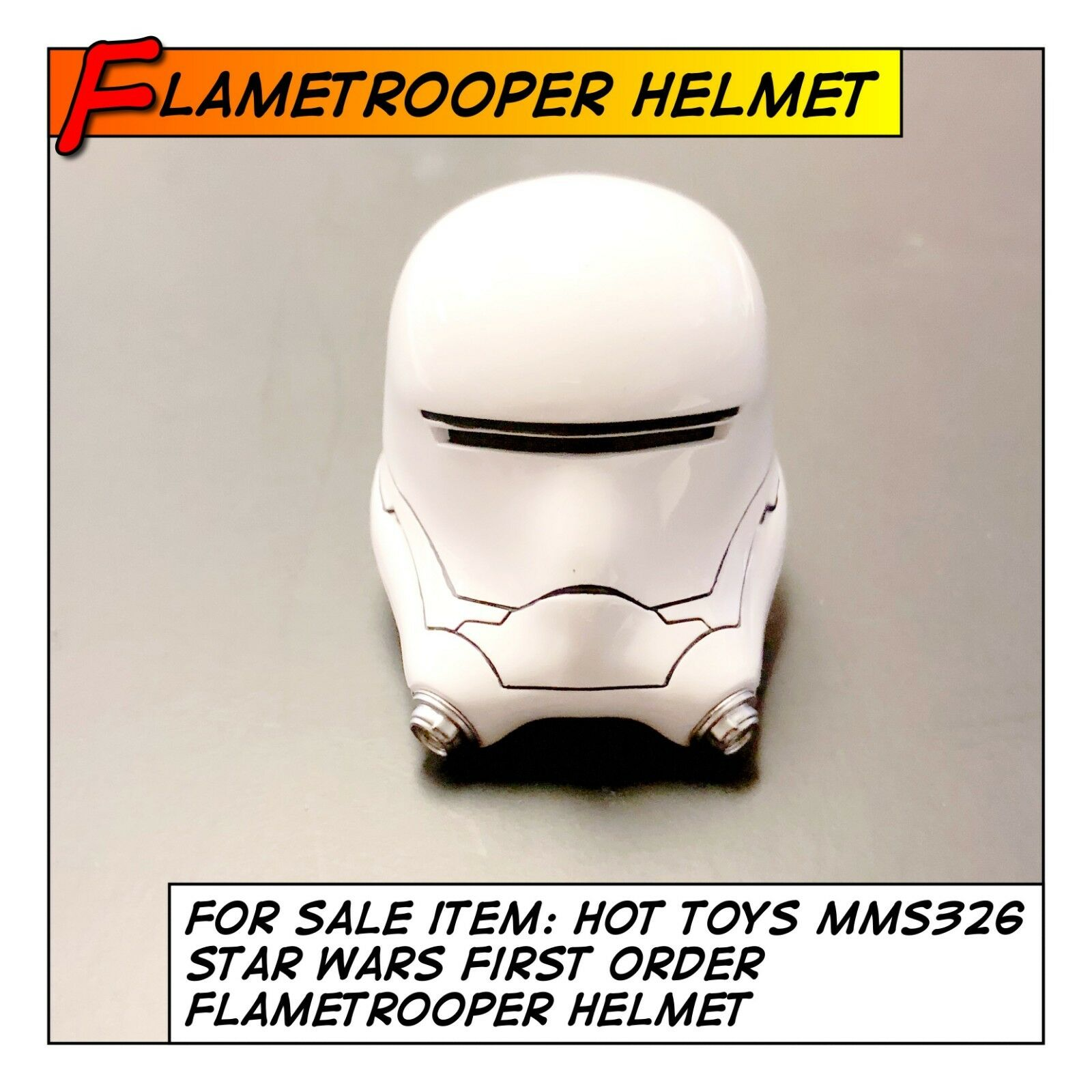 HOT TOYS Star Wars First Order FlameTrooper Helmet MMS326 1 6 scale Stormtrooper
