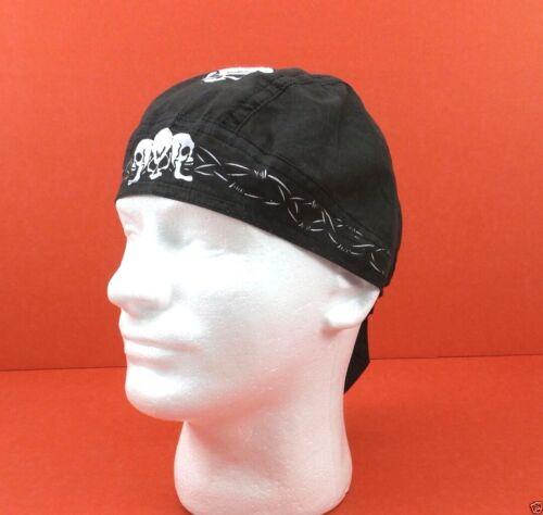 Do Rag Bandana Skull Barbed Wire Zandanna Biker Head Wrap Cotton Tie Fitted New
