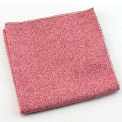 New Vintage Intense Pink Tweed Wool Pocket Square Excellent Quality /& Reviews