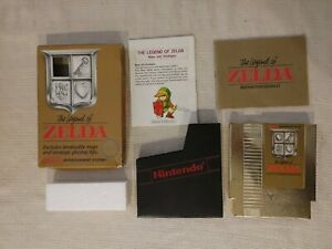 The Legend Of Zelda 5 Screw Version CIB With Map Manual Box NES Nintendo