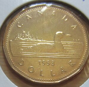 CANADA 1993 UNCIRCULATED  LOONIE FROM MINT ROLL !!