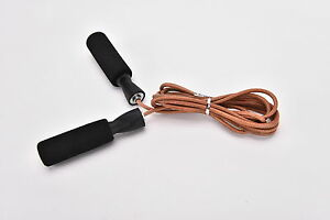 Leather-Skipping-Speed-Rope-Adjustable-Weighted-Fitness-Boxing-Jump-Exercise-TC