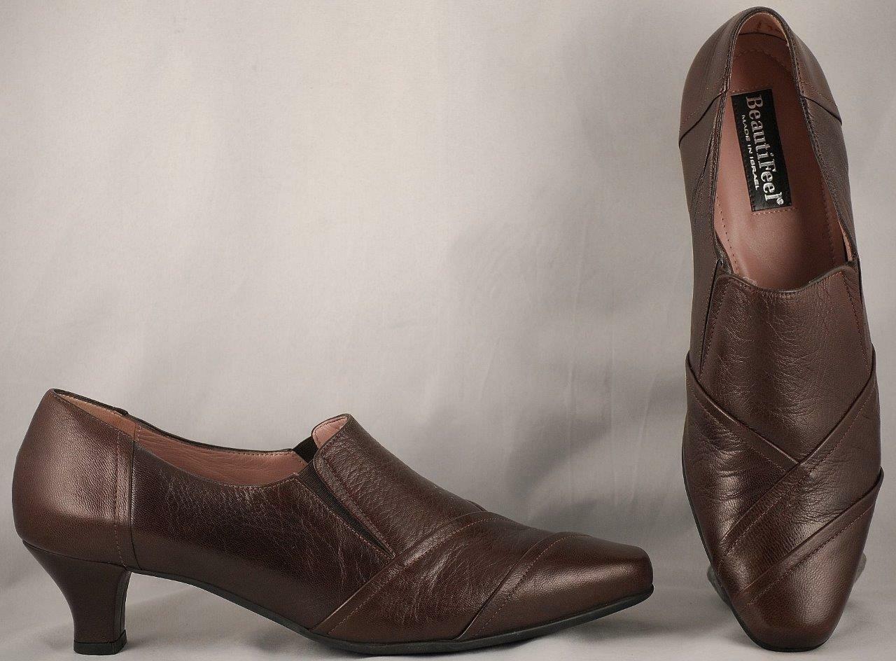Wouomo Beautifeel Marronee Leather Low Heel Loafers avvioies EUR 40 US 9-9.5