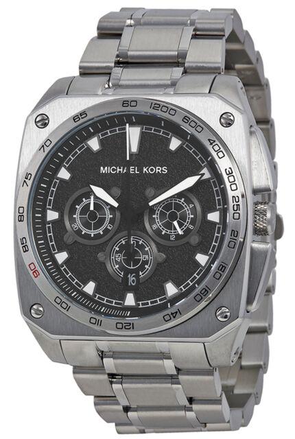 Michael Kors MK8391 Grandstand Black Dial Stainless Chronograph Men s Watch e6f9d7e8c6d5