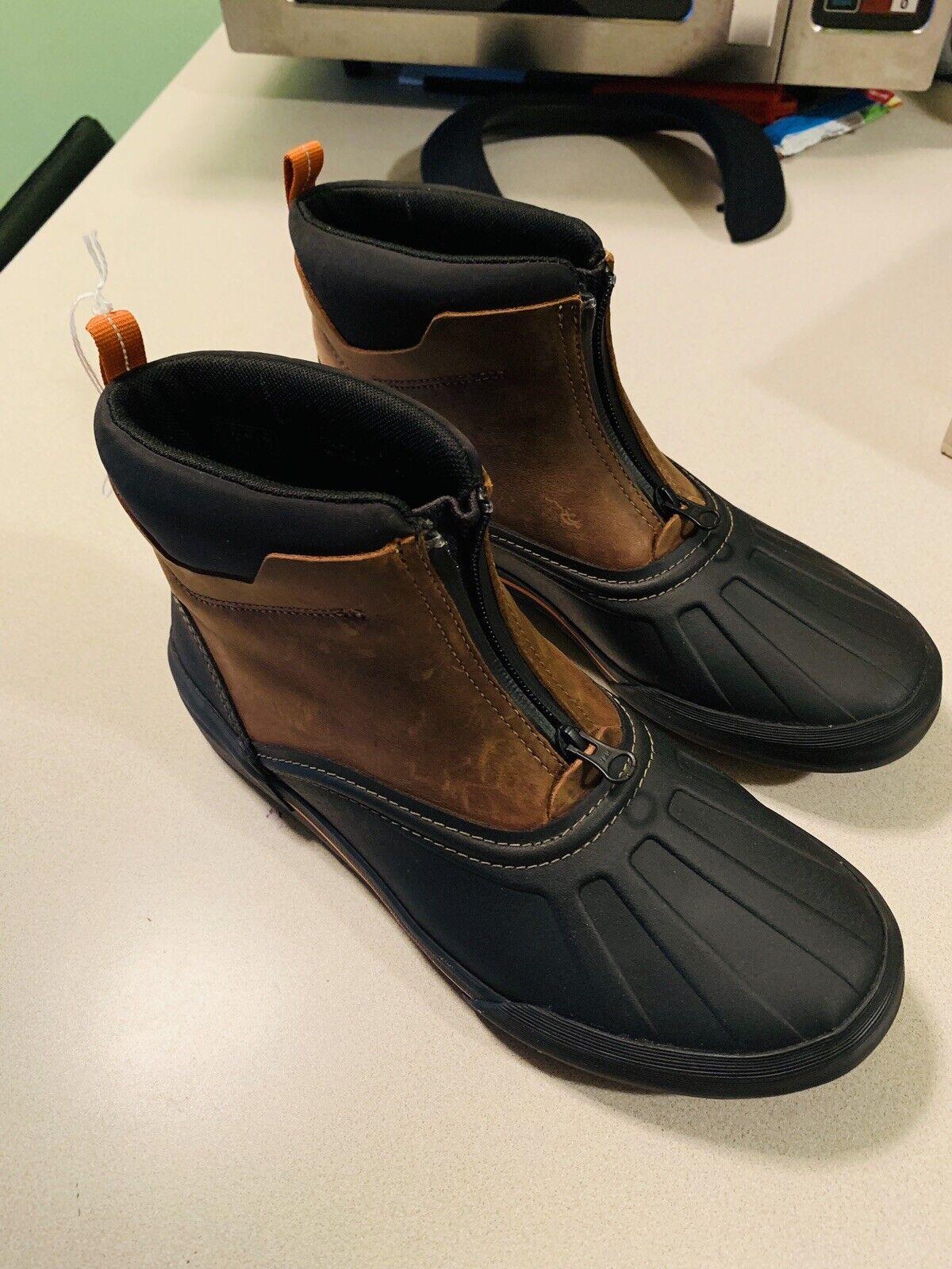 Men's Clarks Bowman Top Duck Stiefel Größe 9.5 Medium Dark Tan Leather