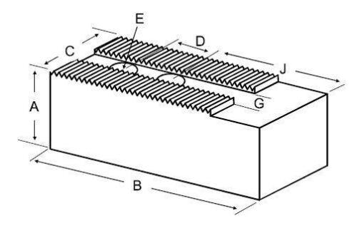 PB-12250F STEEL SOFT JAWS FOR 1//16 X 90 DEG SERR 10-13IN CHUCK 2.5IN HT 3PCS