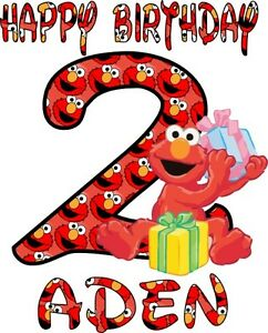 Image Is Loading Little ELMO 039 S Personalized Happy Birthday