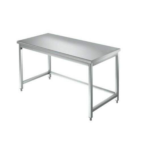 Table 80x70x85 stainless steel 430 on legs kitchen restaurant pizzeria RS3904