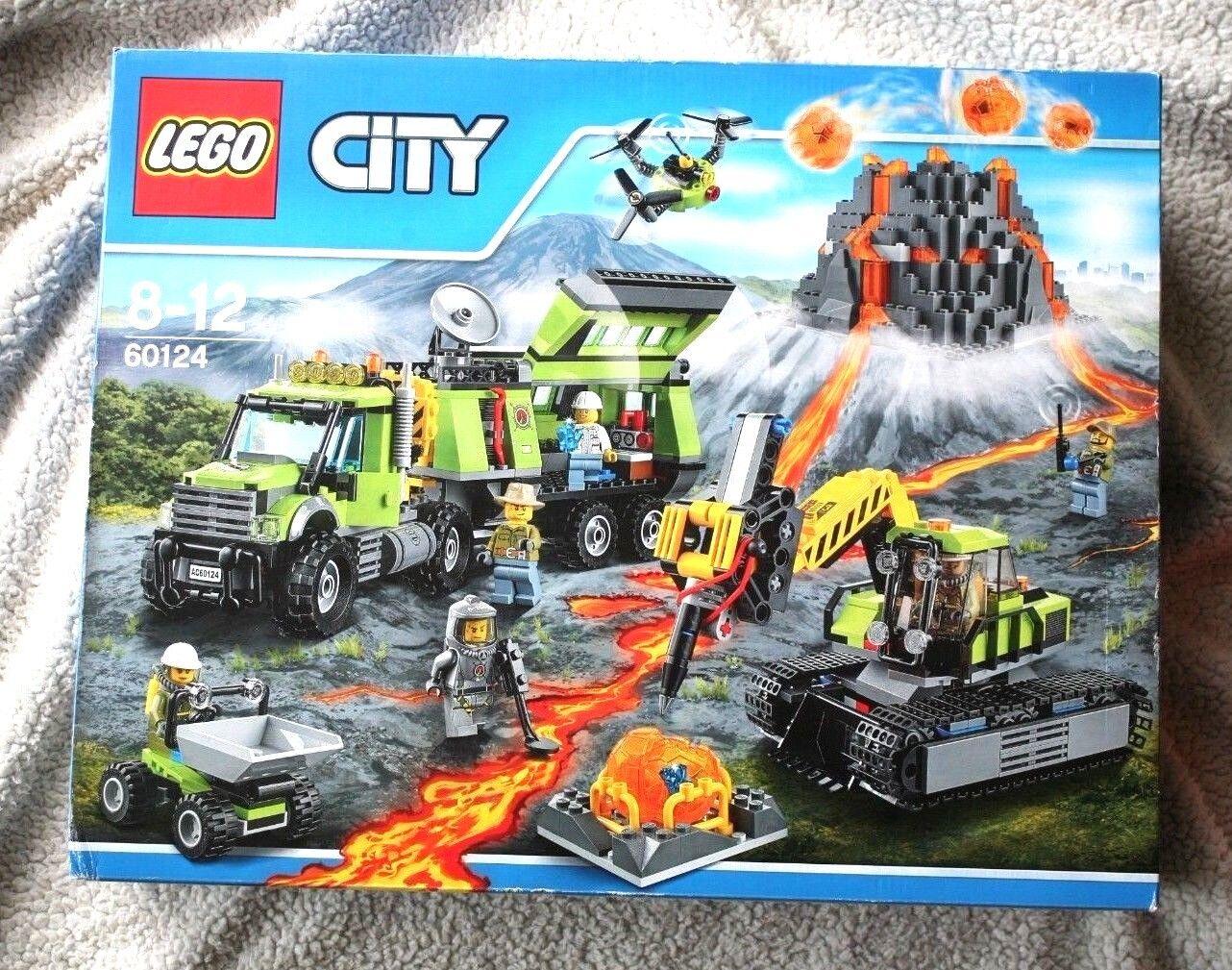 LEGO CITY: VOLCANO EXPLORATION BASE (60124). BRAND NEW IN BOX