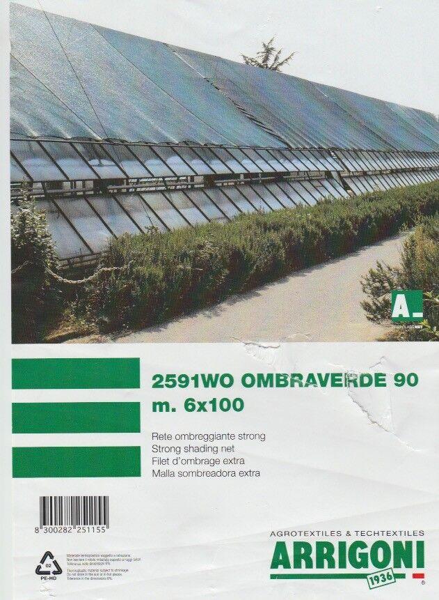 RETE OMBREGGIANTE OMBRA TELO verde FRANGISOLE 90% FRANGIVISTA 1TELO CM.600 X 800