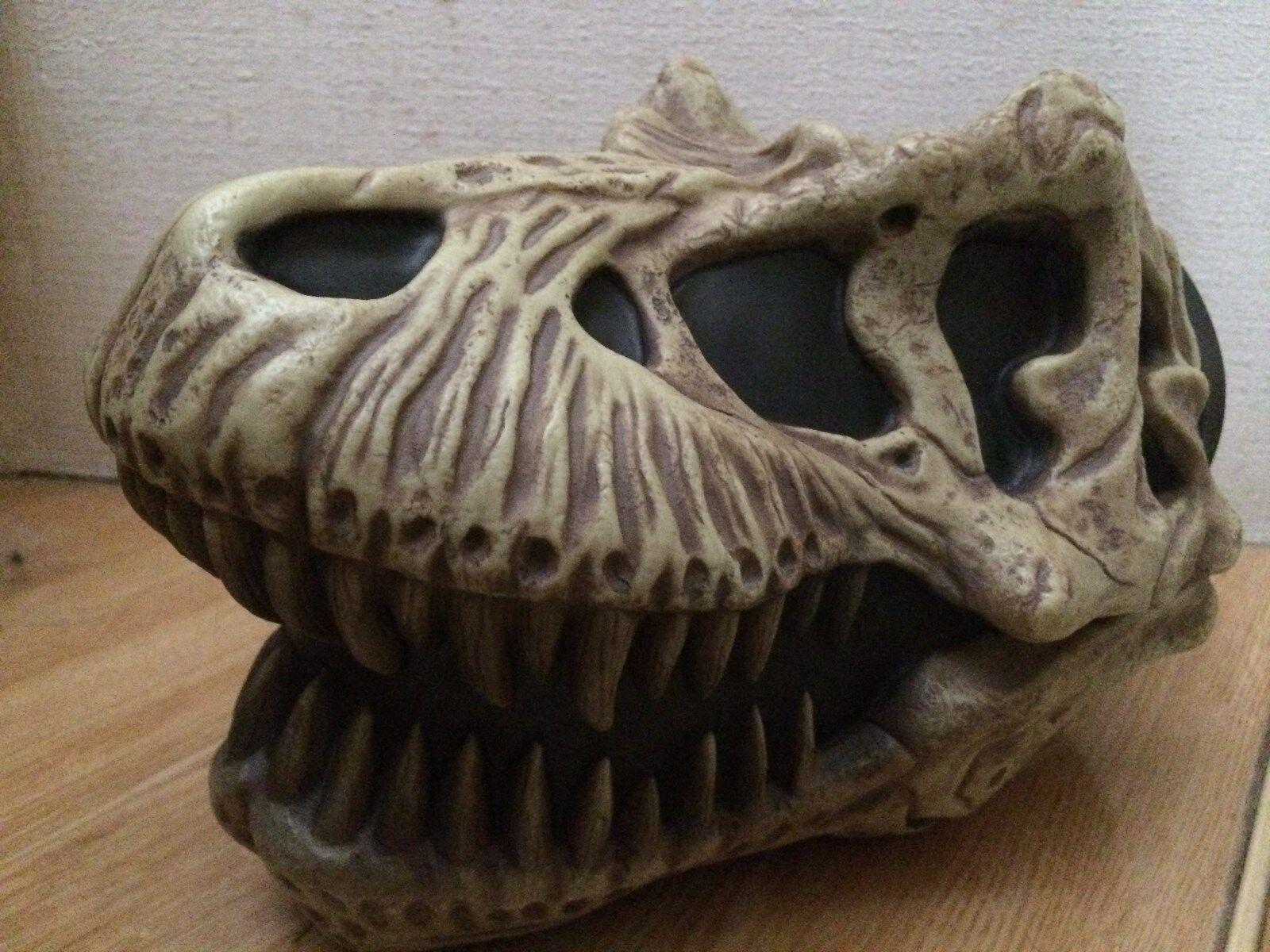 10.2in Jurassic Park perdido Palabra Jurassic Tiranosaurio T-Rex cráneo Caja Decorativa