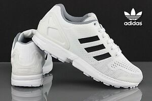89cb4d3dc Image is loading ADIDAS-ZX-FLUX-WOMENS-TRAINERS-WHITE-UK-SIZE-