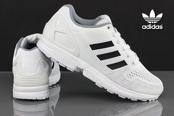 4d83790e3da69 adidas Originals ZX Flux Running Shoes Trainers White B34513 Sports ...