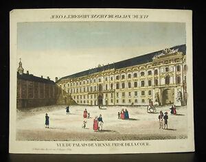 Vue d optique du palais de Vienne gravure XVIIIe print Vienna ... 2c55d73a709b