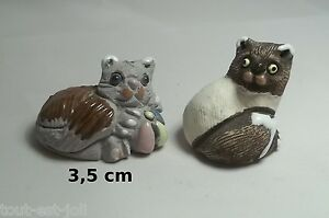 Lot De Chats Miniature En Porcelaine,collection,décoration,animal, Cat,kat *a21 X5cdhljd-07234652-725459088
