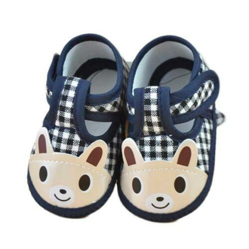 Cute Newborn Girl Boy Cloth Soft Sole Crib Casual Toddler Shoes Canvas Sneaker