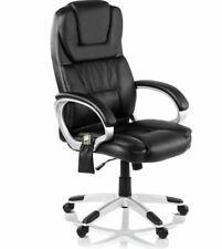 Silla oficina masaje y calefaccion sillon ejecutivo Negro -McHaus