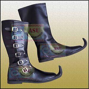 681515786261e Details about Medieval Leather Boots Historical Long Shoes Reenactment Mens  Long Boots Shoe