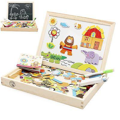 Babyhugs Kids Wooden Toy Magnetic Double Sided Drawing Whiteboard Blackboard Art Easel Colourful Zodiac Characters