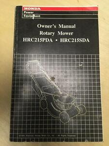 honda lawn mower owner manual for the hrc215pda hrc215sda ebay rh ebay com honda mower owner's manual honda mower service manual pdf