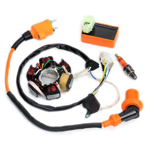 Ignition-Coil-CDI-Spark-Plug-Magneto-Stator-For-GY6-125cc-150cc-Moped-Scoot6ON
