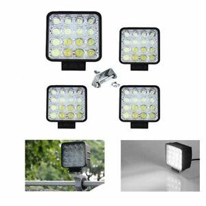 4x-48W-Arbeitsscheinwerfer-Scheinwerfer-Offroad-Reflektor-Fuer-SUV-Jeep-Traktor