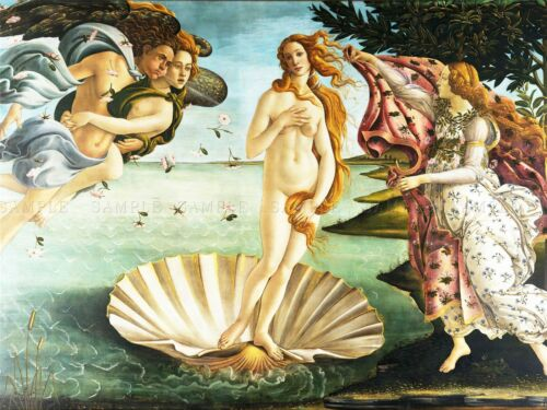 PAINTING SEA SHELL GODDESS BIRTH VENUS BOTTICELLI ART POSTER PRINT LV2867