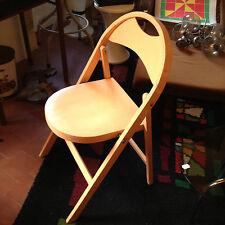 vintage chaise pliante ZPM Radomsko des années 50's en bois couleur Saumon