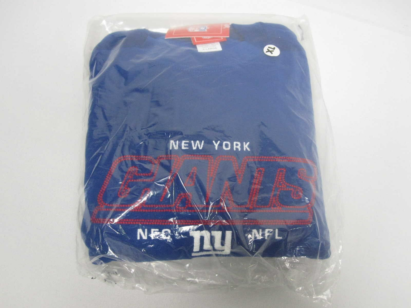 NEW NFL NEW YORK GIANTS blueE EMBROIDERED LOGO MENS SWEATSHIRT SIZE XL NWT NEW