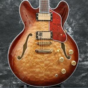 Starshine-Superb-electric-guitar-semi-hollow-body-335-style-5A-quilted-maple