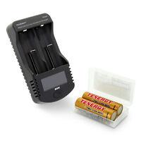 Combo: Tenergy Universal Charger + 2packs T35u 3.6v 3500mah 18650 Li-ion Battery