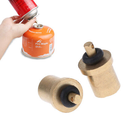 Outdoor Travel Camping Gas Stove Refill Adapter For Cylinder Burner Tank Z0X6