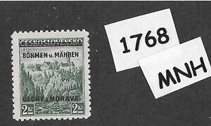 1768-MNH-1939-Overprint-stamp-2-00-KR-BaM-Protectorate-Third-Reich-occupation