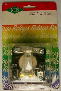 Details about NTE R04-5D30-12 SPDT 30A 12VDC Heavy Duty Open Frame Relay  RLY1322