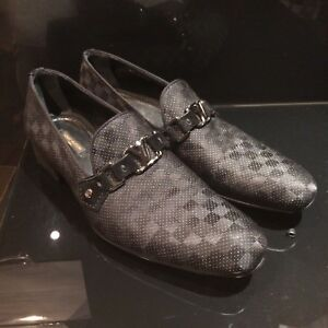 Louis-vuitton-zapatos-hombres-100-Autentico-Vidrio-Mocasin-Zapatos-Talla-7-5-Reino-Unido