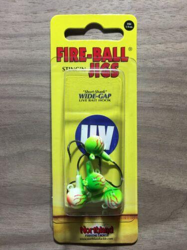 Northland Fishing Tackle UV Bleeding Melon Fire-Ball® Jigs