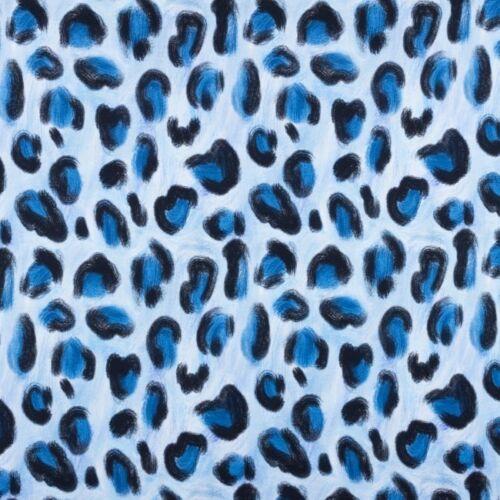 Sustancia Jersey impresión digital adornos leopardos patrón azul negro