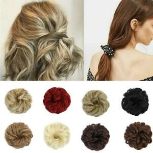 Women-Wigs-Trend-Fluffy-Ball-Curly-Hairstyle-Rubber-Band-Hair-Ring-Buns-Decor