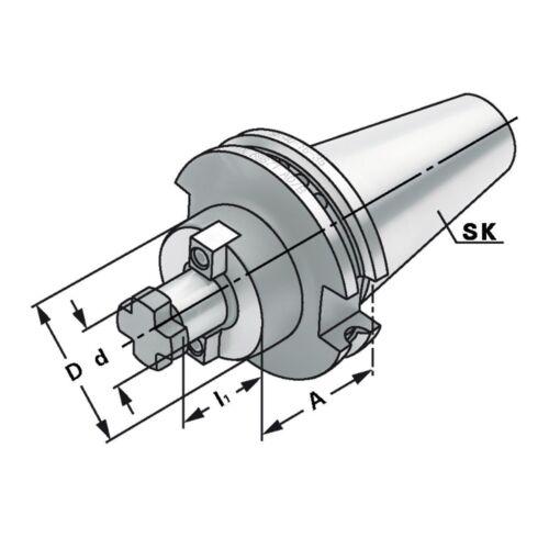 Quernut-Aufsteckdorn SK 50-16-100 mit vergrößertem Bunddurchmesser