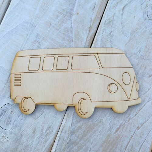10 Pack Plywood Wooden Blank Craft Shape Camper Van Side