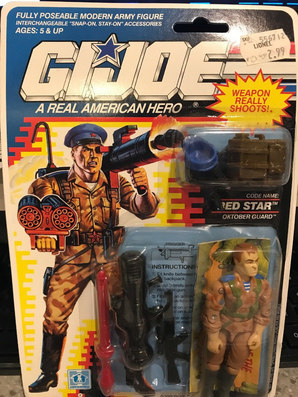 NEW Hasbro GI Joe Red Star Oktober Guard New in Blister
