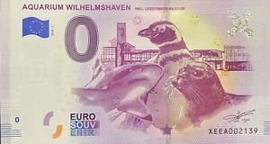 BILLET-0-EURO-AQUARIUM-WILHELMSHAVEN-ALLEMAGNE-2018-NUMERO-2139