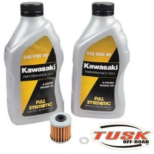 Tusk//Kawasaki Full Synthetic Oil Change Kit Kawasaki Kx250F 2004-2019 Filter Xc