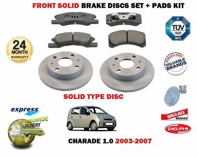 DISC PADS KIT FOR DAIHATSU CHARADE 1.0 2003-2007 FRONT SOLID BRAKE DISCS SET