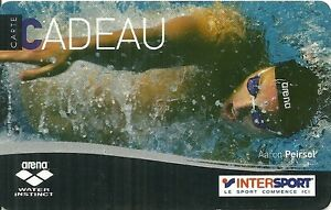 Carte Cadeau Intersport.Details About Rare Carte Cadeau Aaron Piersol Natation Intersport Sport Arena
